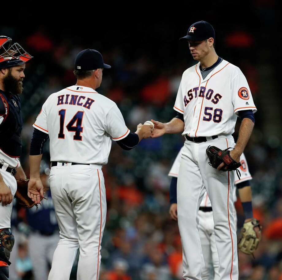 2016 AstrosPicked by Sports Illustrated to win the World Series, the Astros instead regressed from their playoff appearances the previous season. Ace Dallas Keuchel struggled early in the season, the bullpen went through three different closers, veterans such as Colby Rasmus, Carlos Gomez and Doug Fister (58) struggled for all or parts of the season and the team was dominated all season by the division rival Rangers. The final nail in the coffin was a 2-5 homestand after entering it just a game out of the final wild-card spot. Photo: Karen Warren, Houston Chronicle / 2016 Houston Chronicle