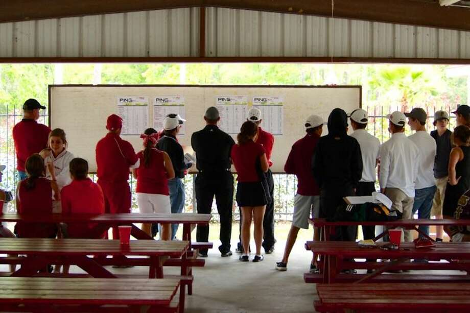 Huffman Tournament competitors anxiously await the final results.