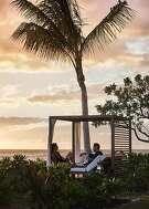 Sunset at Four Seasons Resort Oahu at Ko Olina.  Credit: Four Seasons Resort Oahu