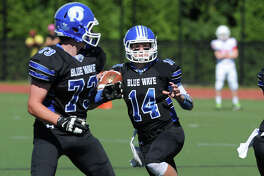 High school football game between Greenwich High School and Darien High School at Darien, Conn., Saturday, Sept. 24, 2016. Darien defeated Greenwich 42-35.