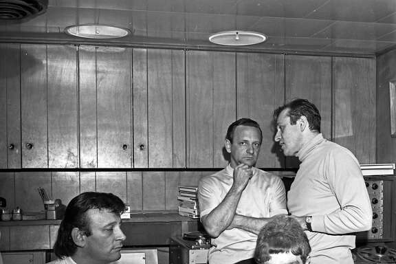 "Forefront, L-R: Songwriter/producer Bert Berns, the subject of ""Bang! The Bert Berns Story,"" and singer/songwriter Van Morrison. Getty Images, courtesy of Bang! The Bert Story."