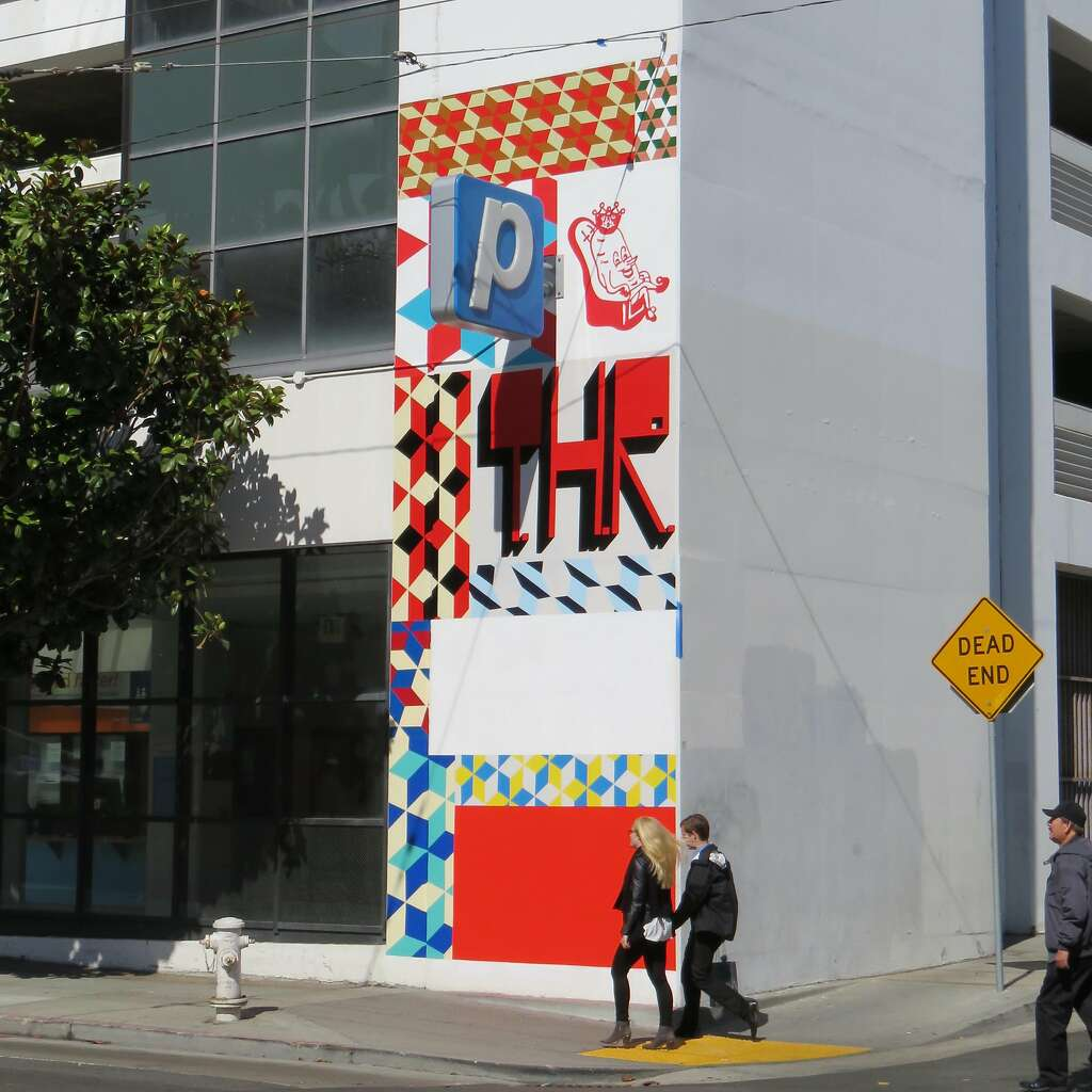 art and performance liven up soma parking garage sfgate the third street lower wall rendered by vogue and mike bam tyau