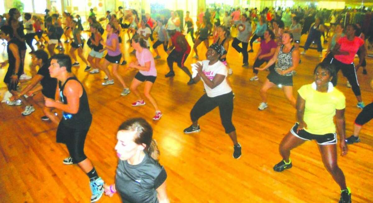 Photo by Lindsey Vaculin/The RancherSoul Grooves participants enjoy a fast-paced choreographed cardio workout.