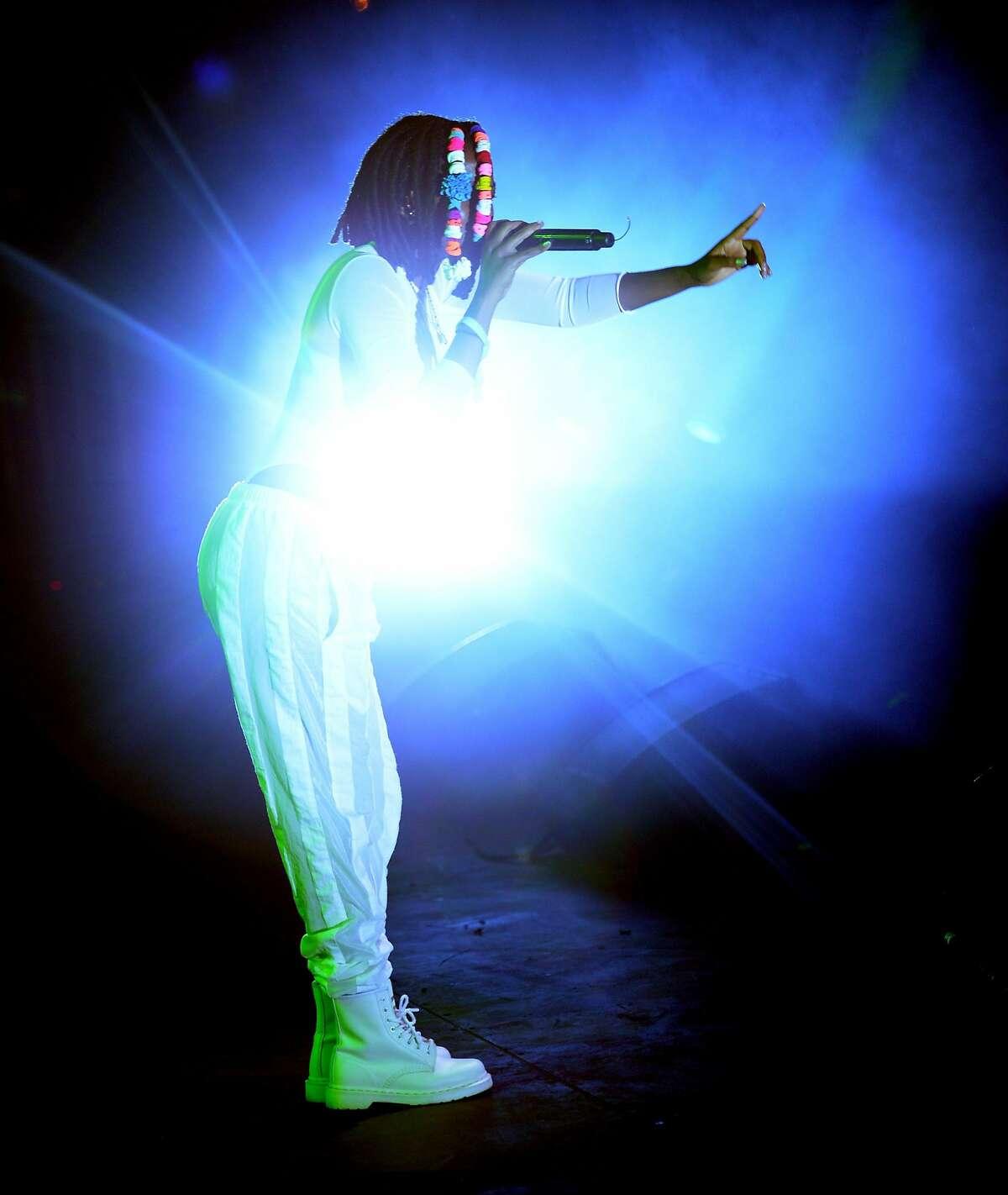 Singer Kelela performs onstage during FYF Fest 2016 at Los Angeles Sports Arena.
