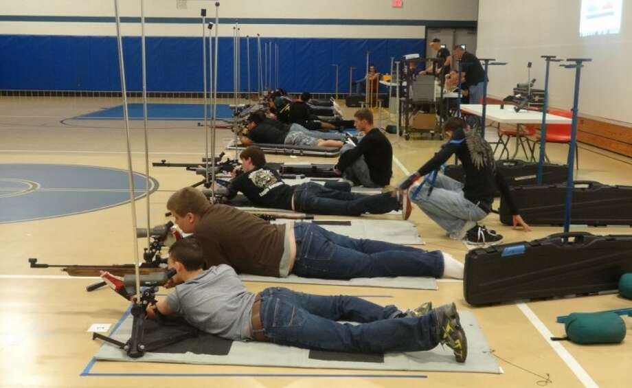Students from across the region competed in the Big Thicket Rifle League match on May 12 at New Caney High School. Photo: Submitted Photo