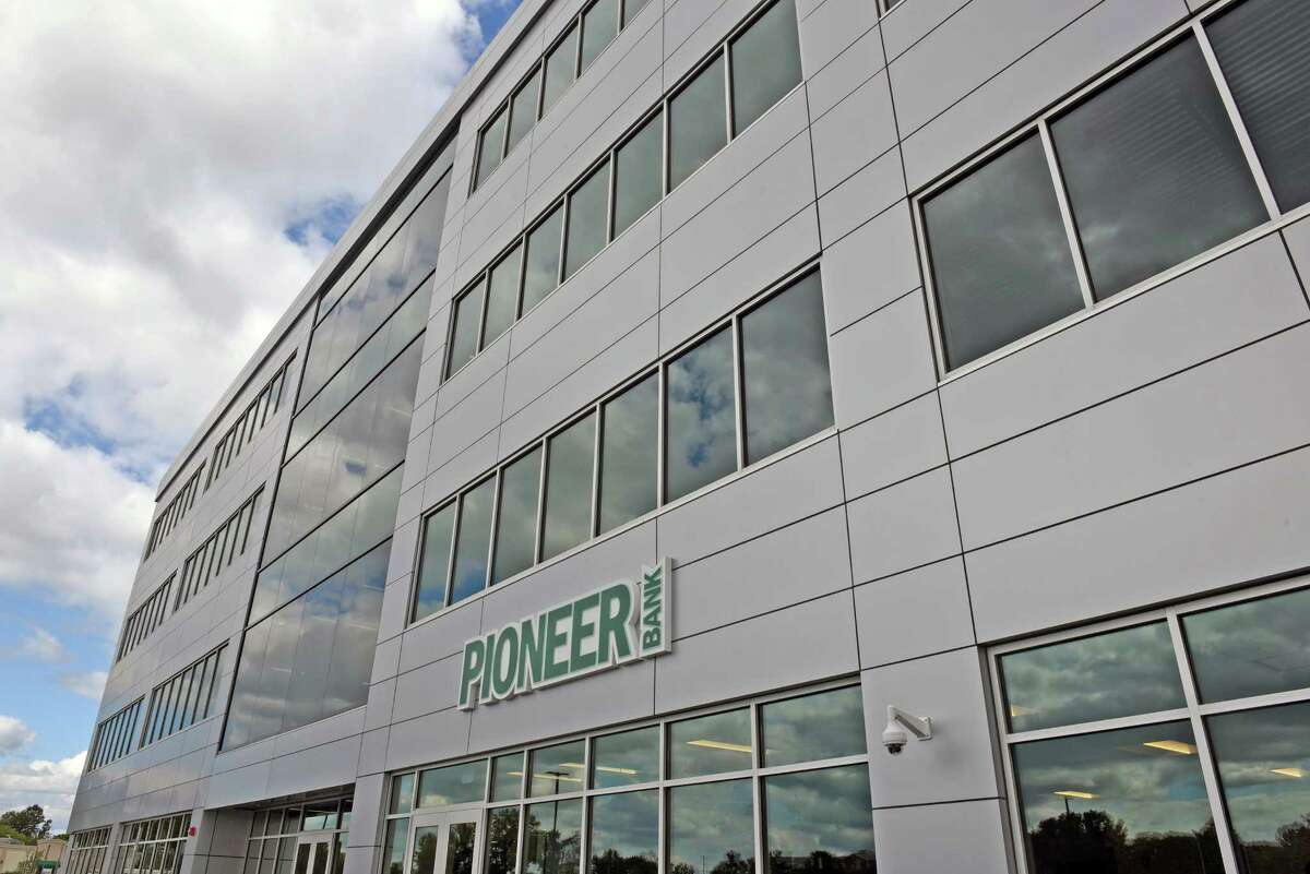 The new Pioneer Bank headquarters on Wednesday Sept. 28, 2016 in Colonie , N.Y. (Michael P. Farrell/Times Union)