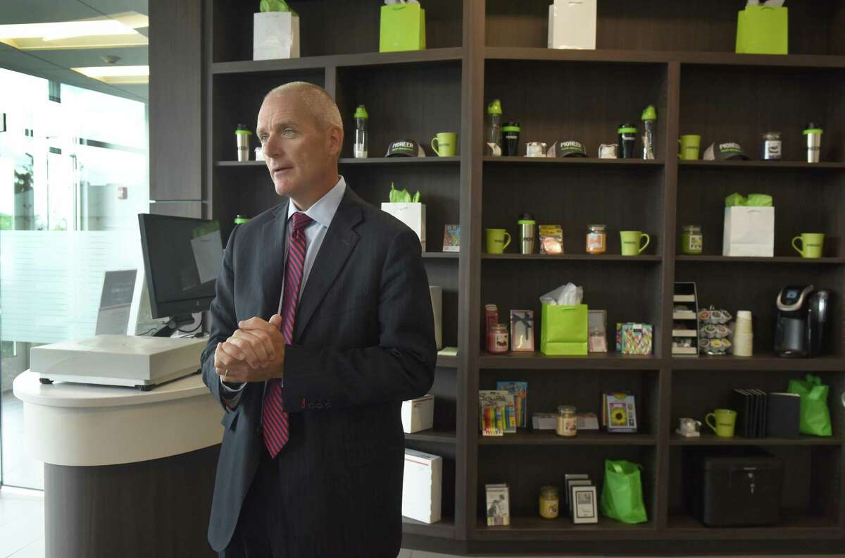 Pioneer Bank President and Chief Executive Officer Thomas L. Amell during a tour of the new Pioneer Bank headquarters on Wednesday Sept. 28, 2016 in Colonie , N.Y. (Michael P. Farrell/Times Union)