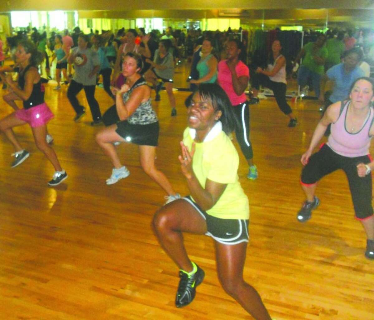 Soul Grooves participants enjoy a fast-paced choreographed cardio workout.