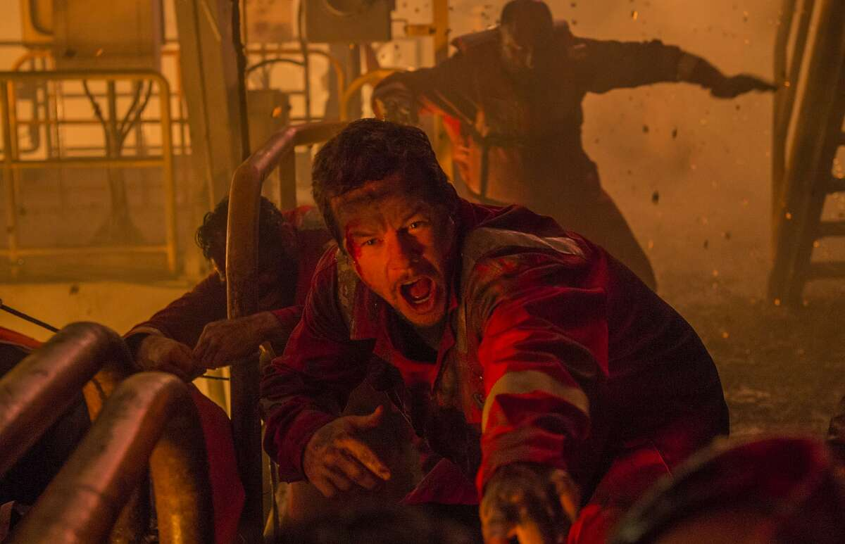 """This image released by Summit shows Mark Wahlberg in a scene from, """"Deepwater Horizon."""" (David Lee/Summit via AP)"""