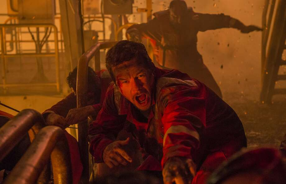 Most of the story of the disaster is told through the eyes of Mike Williams (Mark Wahlberg), the Deepwater Horizon oil rig's chief electronics technician. Photo: David Lee, Associated Press