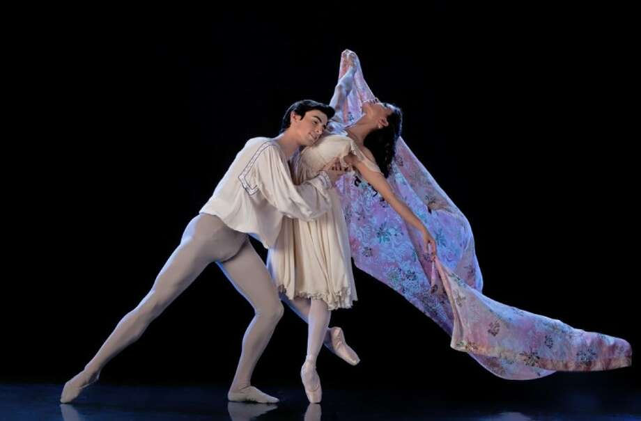 Joseph Walsh and Karina Gonzalez in Houston Ballet's production of Romeo of Juliet, choreographed by Ben Stevenson. (Photo by Amitava Sarkar, submitted by Houston Ballet)