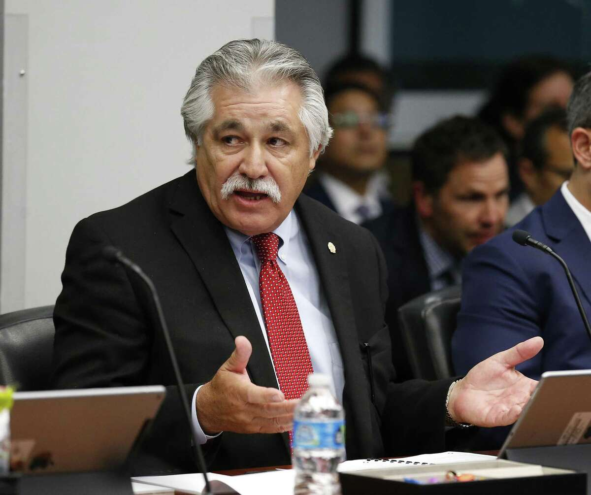 Democrat Ray Lopez is one of the candidates running in a special election to fill the vacant District 125 seat in the Texas House. In this 2016 file photo, Lopez, then a city councilman, discusses a bond program.