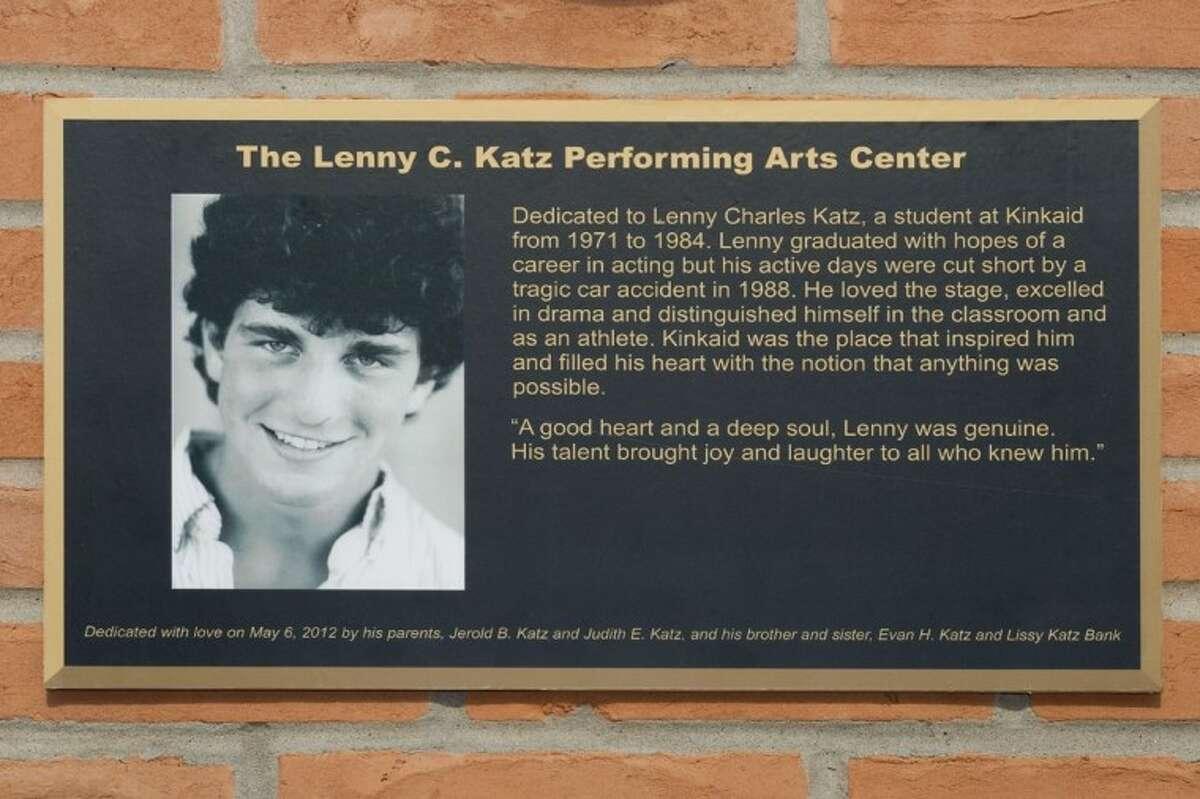 This plaque tells Lenny Katz's story.