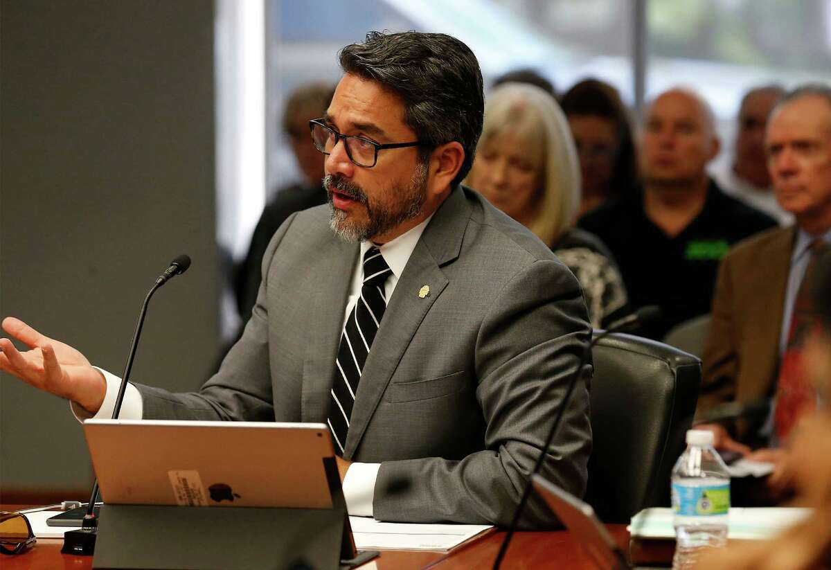 District 1 Councilman Roberto Treviño spent the night in his field office ahead of a planned abatement of a homeless encampment on the premises Friday morning.