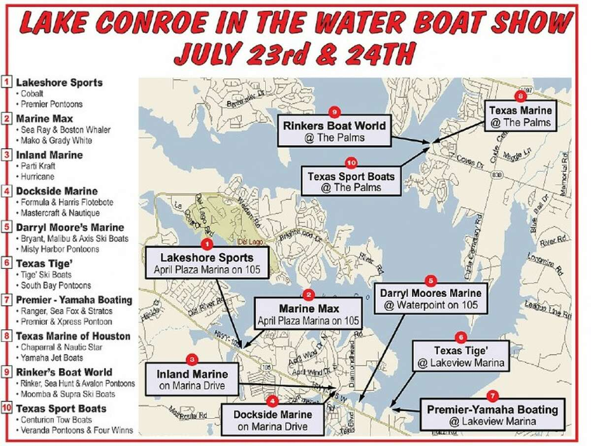 Boat show set for Lake Conroe this weekend