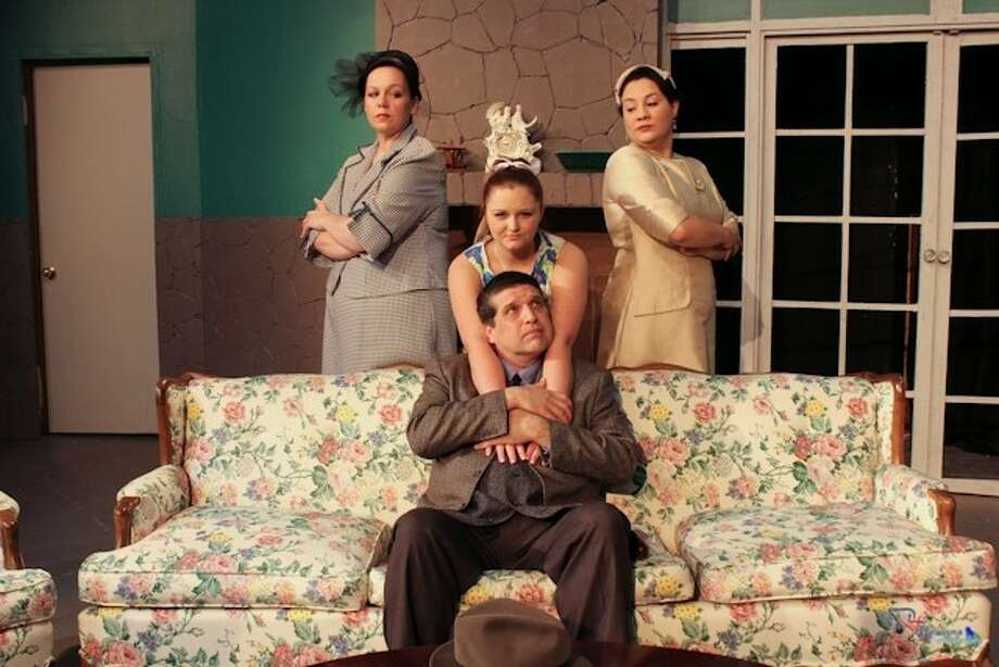 "Adding their artistic talents to Pasadena Little Theatre's latest production, ""Monique"" are principals (standing, l-r) Lucienne (Renae Runnels) and Dr. Monique Rigard (RoseMarie Trauschke). Center is Lisette (Nikki Vanderhoofven) and seated, Fernand (Manny Longoria).This intriguing mystery with an explosive ending will continue at PLT at 8 p.m. on Thursday, May 16, Friday and Saturday, May 17 and 18, with a matinee at 3 p.m. on Sunday, May 19. Call 713-941-1758 for reservations or use www.pasadenalittletheatre.org Photo: SUBMITTED PHOTO"