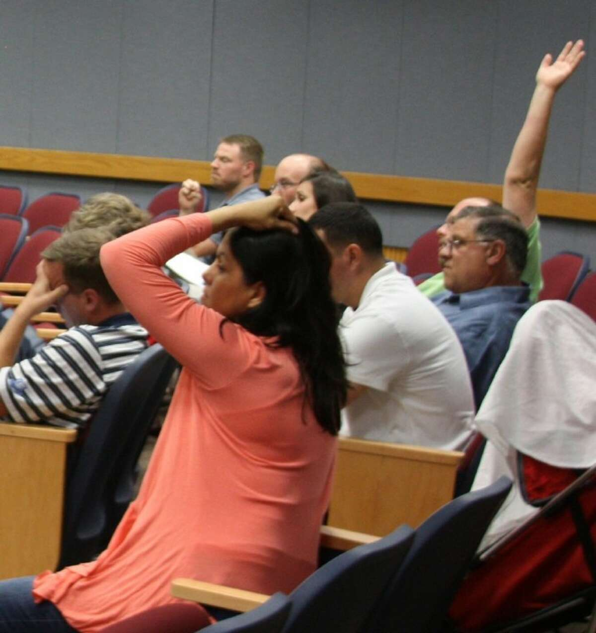 A group of frustrated homeowners urged the Pearland City Council to deny a proposed zone change request that would allow development of a new 40-bed hospital, medical office building and memory care unit at a council meeting held Monday (May 14).