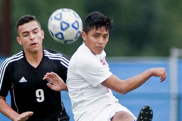 Danbury High School boys soccer vs Trumbull High School in a game played at Danbury. Wednesday, Sept. 28, 2016