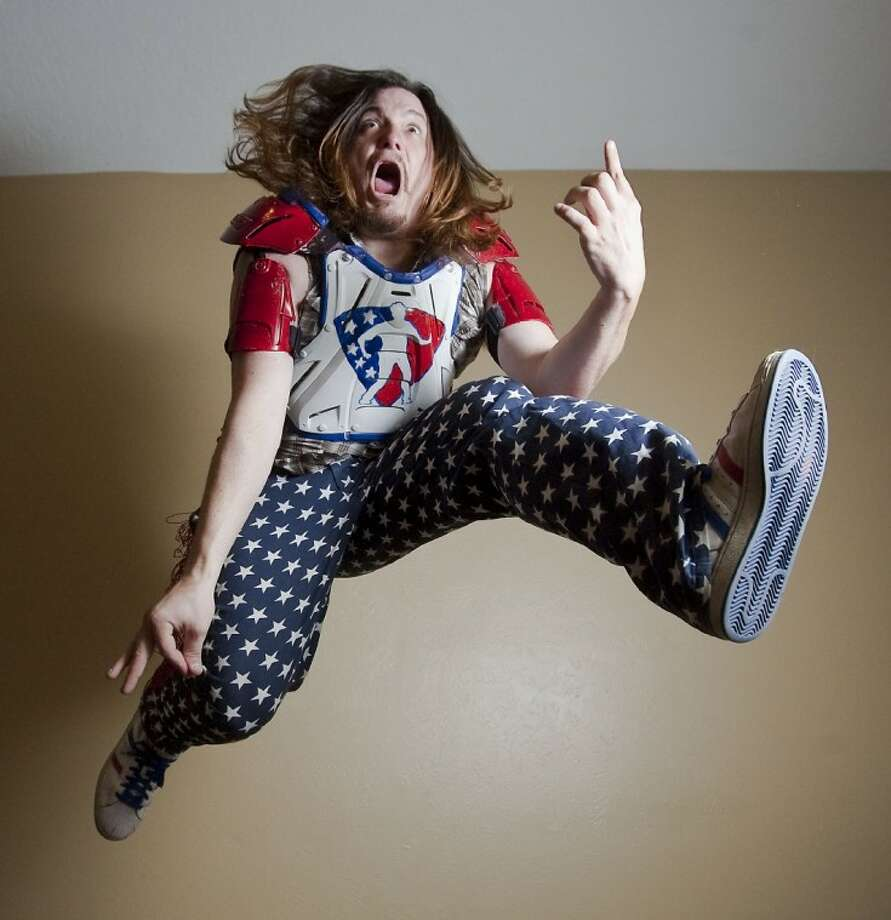 The Woodlands resident Taylor Fullbright will perform as his alter ego, Brock McRock, in the national air guitar championships being held in Chicago this weekend.