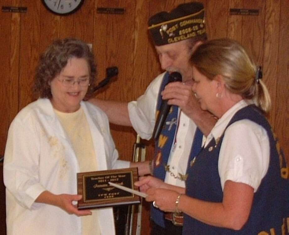 """Jeanette Bullock, a kindergarten teacher at Shepherd Primary School, was recognized as """"Teacher of the Year"""" for her outstanding work in the classroom. VFW Post 1839 held its annual Awards Ceremony and Officer Installation Banquet on Saturday, May 19."""