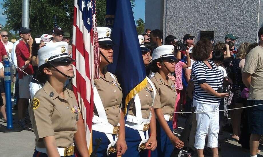 Memorial Day celebration draws a crowd