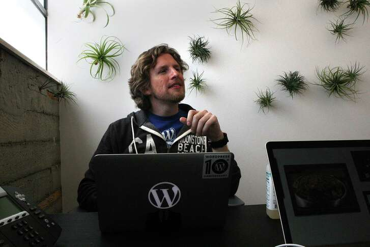 Wordpress founder Matt Mullenweg in his new office building in San Francisco, Calif., on Wednesday, July 24, 2013, where this coming weekend will be the annual WordCamp conference.