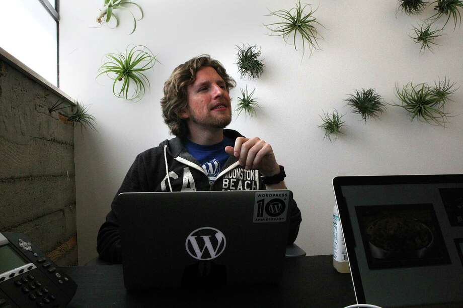 Wordpress founder Matt Mullenweg in his new office building in San Francisco, Calif., on Wednesday, July 24, 2013, where this coming weekend will be the annual WordCamp conference. Photo: Liz Hafalia, Staff / ONLINE_YES