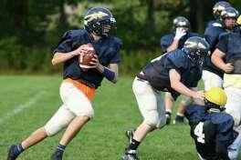 Averill Park football quarterback Ryan Long during practice on Wednesday Sept. 28, 2016 in Averill Park , N.Y. (Michael P. Farrell/Times Union)