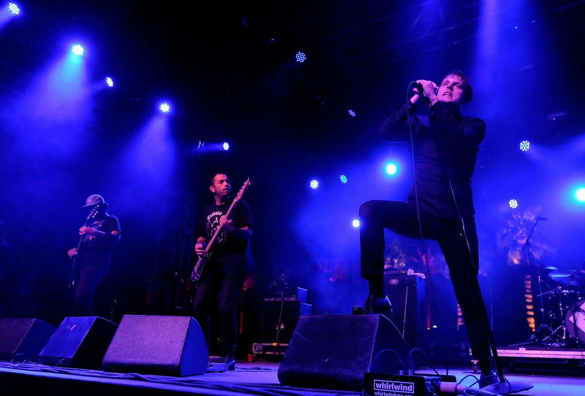 INDIO, CA - APRIL 24: Singer George Clarke of Deafheaven performs onstage during day 3 of the 2016 Coachella Valley Music & Arts Festival Weekend 2 at the Empire Polo Club on April 24, 2016 in Indio, California. (Photo by Frazer Harrison/Getty Images for Coachella)