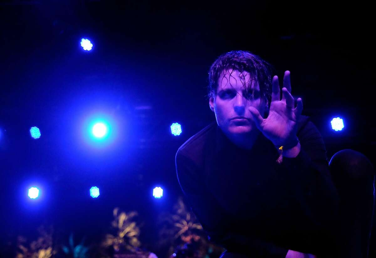 Singer George Clarke of Deafheaven performs onstage during day 3 of the 2016 Coachella Valley Music & Arts Festival.