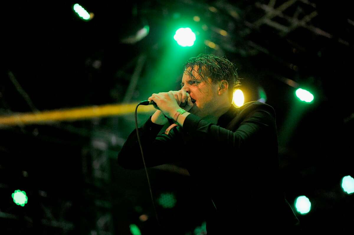 Singer George Clarke of Deafheaven performs onstage during day 3 of the 2016 Coachella Valley Music And Arts Festival.