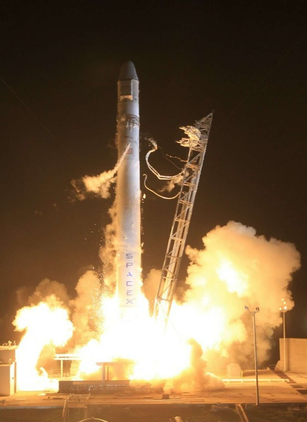 The SpaceX's Dragon capsule rides the Falcon 9 rocket into space in historic launch from Cape Canaveral, which has witnessed many historic liftoffs.