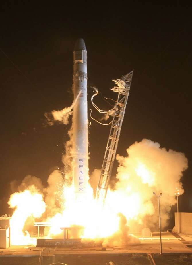 The SpaceX's Dragon capsule rides the Falcon 9 rocket into space in historic launch from Cape Canaveral, which has witnessed many historic liftoffs. Photo: SpaceX