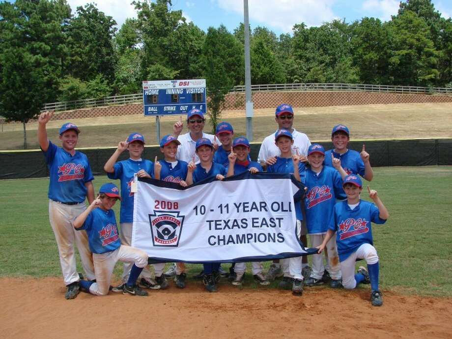 The Post Oak 11-year-old all stars won the Texas East state championship last week. In the picture (l-r): Worth Beard, Will Gaus, Ty Dalton, Christopher Cunningham, manager Chris Cone, Chandler Cone, Paxton Rome, Matthew Clemens, coach Jimmy Nakfoor, James Nakfoor, Matthew Powell, Rob Herrin and Mason McIntyre. Not Shown: Christopher Beggins, coach Bo Herrin, coach Matt Clemens and coach Mike Gaus.