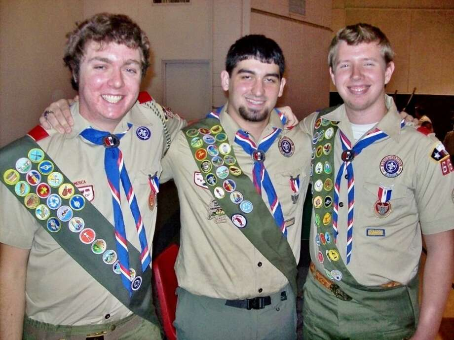 Three Spring Shadows area teens recently attained the rank of Eagle Scout. From left to right are: Joe Cahill, William Schubert and Will Epperson. Photo: Submitted