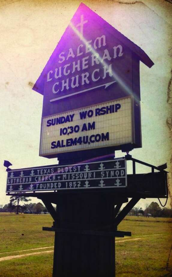 The Salem Church sign at Lutheran Church Road and FM 2920 has stood as a faithful sentinel, directing people to Salem's campus since 1967, it will soon be taken down.