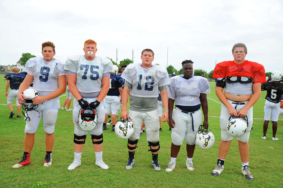 The offensive line of the 2016 Cypress Ranch football team. Photo: Tony Gaines