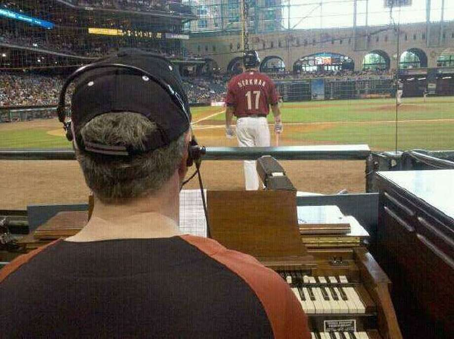 Jim Connors, organist at Christ Church United Methodist, can now also be heard revving up the crowd at Sunday home Houston Astros games in Minute Maid Park.