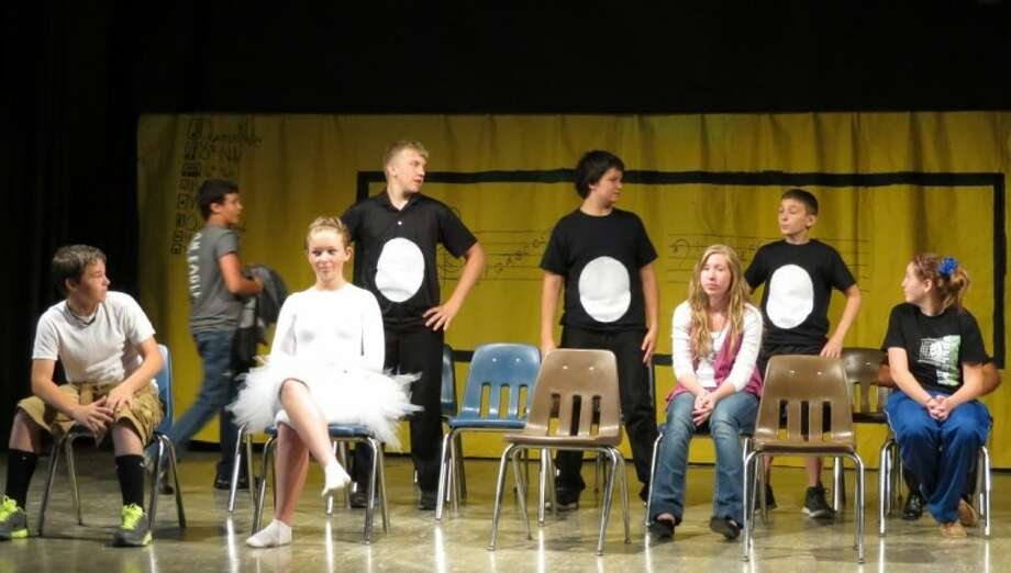 """Shepherd Middle School Gifted and Talented classes performed """"Birds of a Feather,"""" written by 8th grade student Tessa Rutledge, on May 22. Photo: Submitted Photo"""