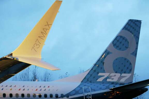 An event late last year in Renton, Wash., featured the first 737 MAX jetliner to roll off Boeing's assembly line.