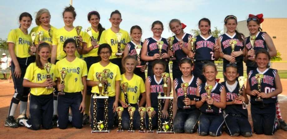 The West University Softball Association brought two more tournament championships home from the 5th Annual All-Star Shootout in Sugar Land. The Rapids (left)won the 12U division, while the Wave won seven games to take the 10U title. Photo: Submitted Photo