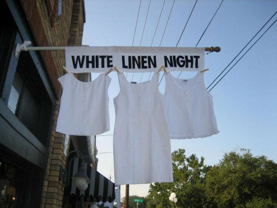 "Billed by the organizers as ""sultry, steamy, exotic and artfully provocative,"" White Linen Night in the Heights returns at 4-10 p.m. Aug. 2. The event, held in the Houston Heights, is a celebration of art, culture, and community that offers entertainment and a chance to visit boutiques, art galleries and antiques shops."