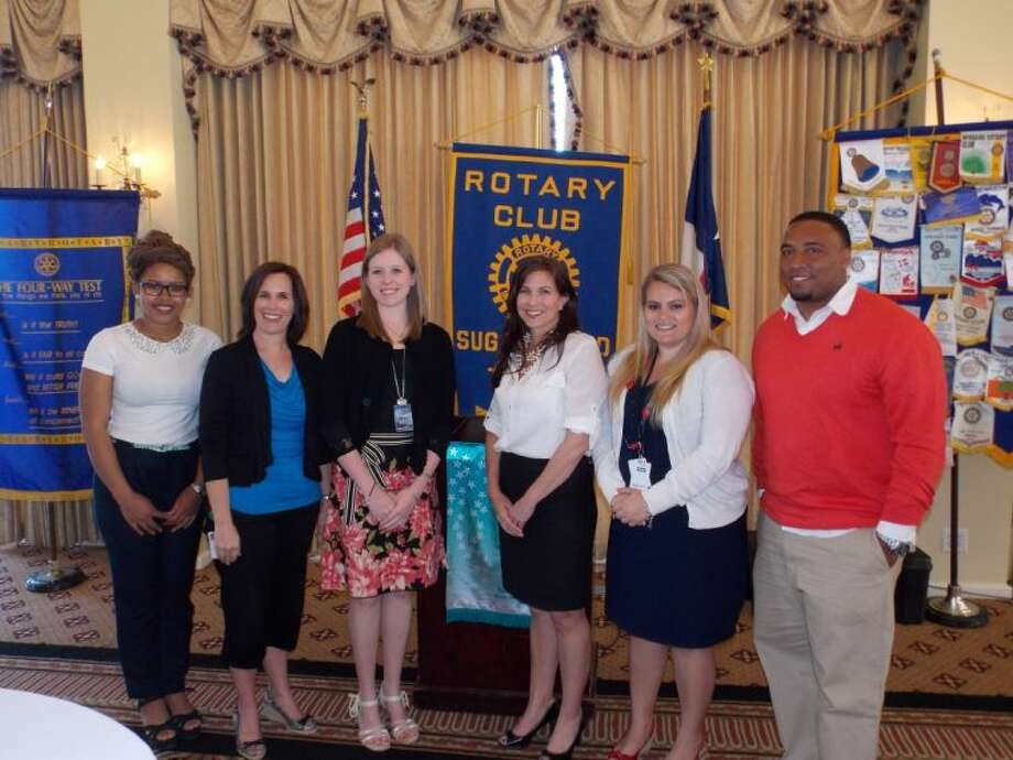 Pictured at the Sugar Land Rotary teacher recognition are (from left to right): Ashley Forde, Jennifer Culberson, Margaret Bennett, Kristin McNeely, Lynsey Wallman, and Alonzo Ford.