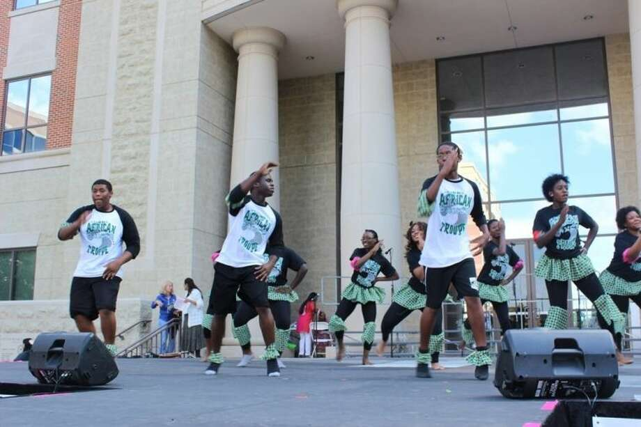 Pictured is the African dance group from Hightower High School.
