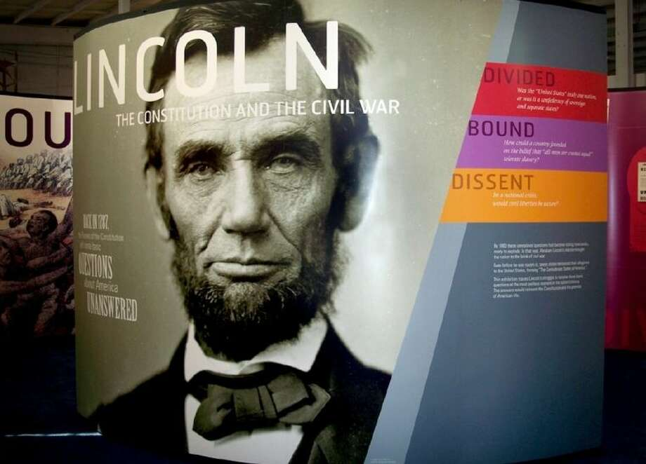"""The exhibition, """"Lincoln: The Constitution and the Civil War,"""" will be on display at Fort Bend County Libraries' George Memorial Library, 1001 Golfview in Richmond, beginning February 23, and continuing through April 4, in the Bohachevsky Gallery. Photo:  (c)2009 Alusiv, Inc."""