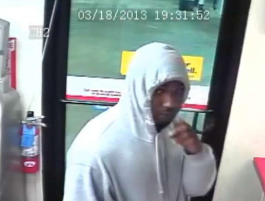 Gas station robbery suspects sought