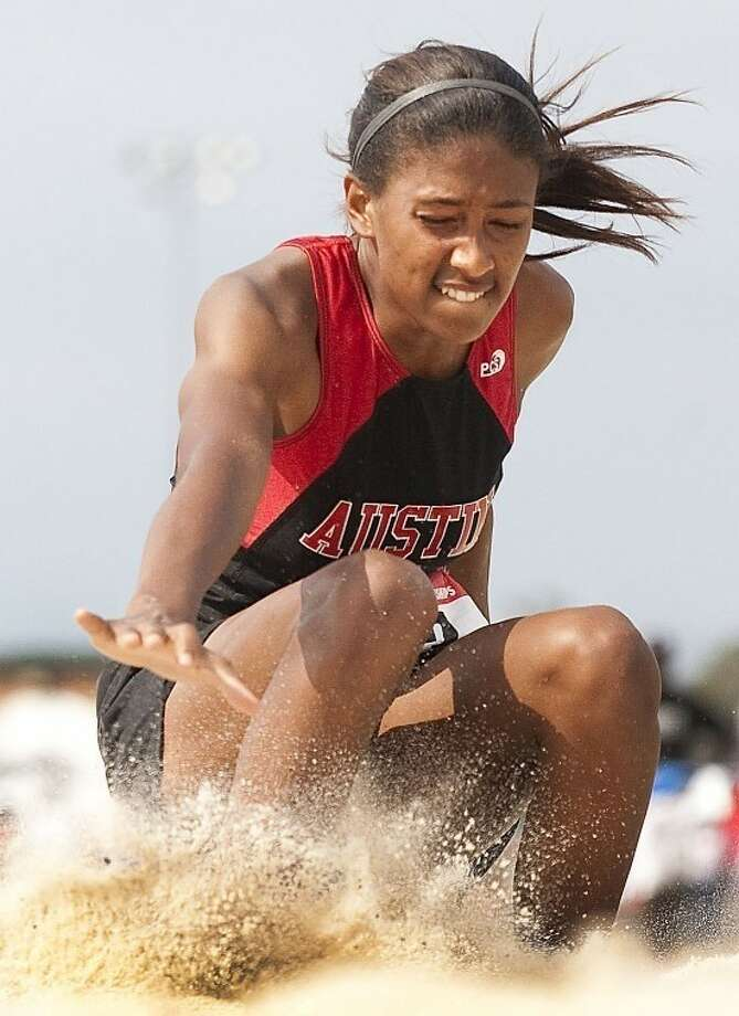 Austin's Bria Druihlet won the triple jump and reached the long jump finals March 29-30 at the Texas Relays at the University of Texas' Mike A. Myers Stadium. Photo: HCN File Photo