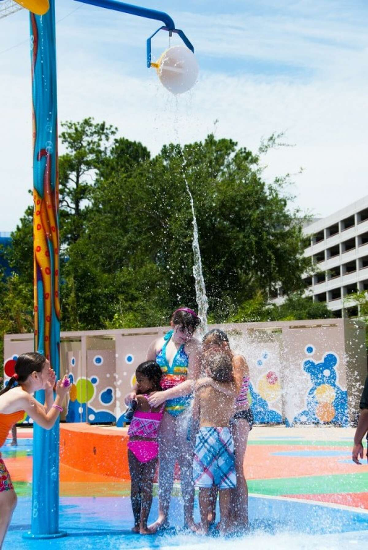 The new Kathrine McGovern Waterpark at the Houston Zoo allows youngsters to cool off during the hot summer months -- just like their favorite animals.