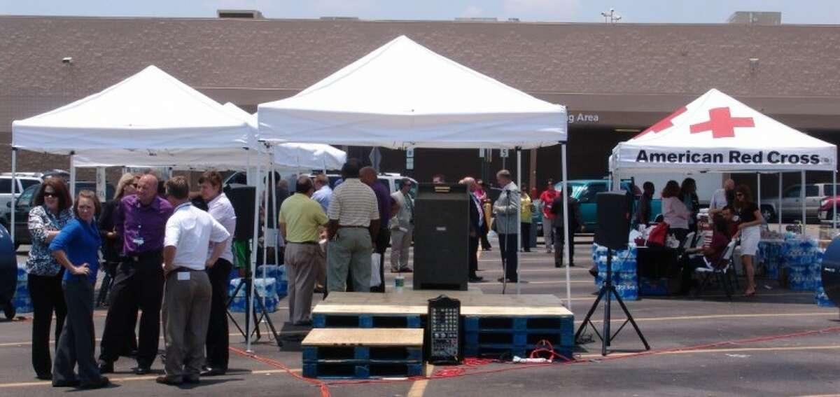 Many different government, educational and non-profit organizations set up information booths in the Sam's Club parking lot on I-45 at Fuqua to share disaster preparedness information.