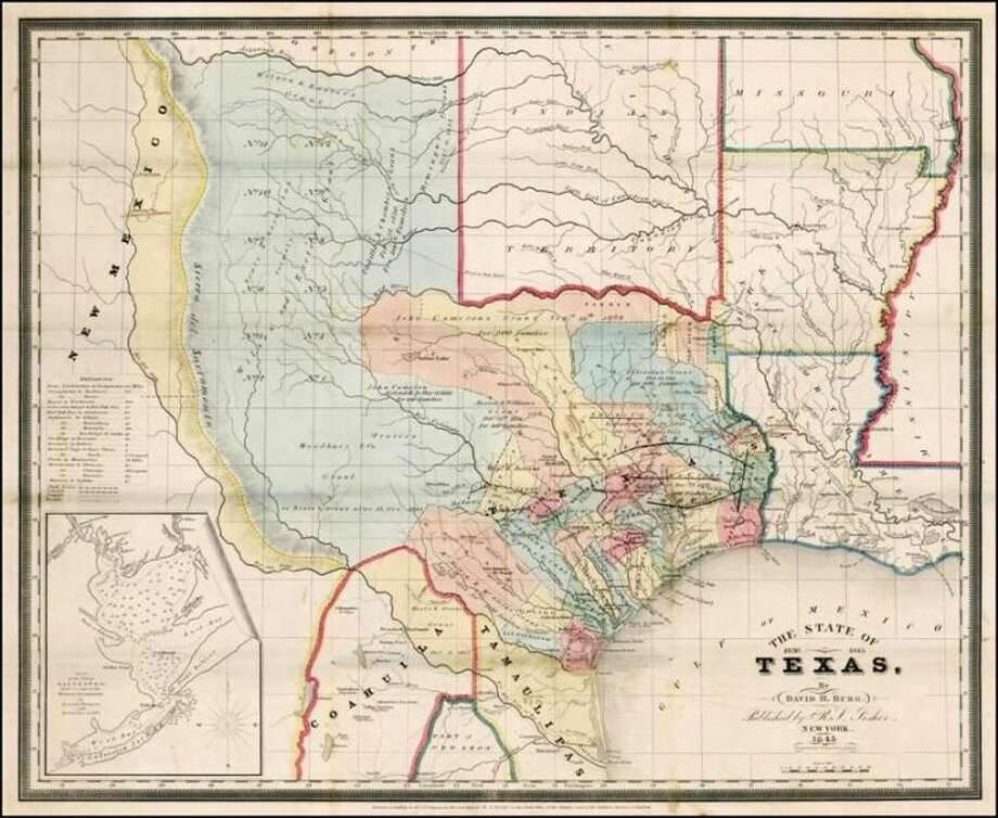 New map of the state of Texas.